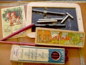 """La imagen es de internet y perteneciente a una exposición sobre  """"Material escolares antiguos"""" realizada por Centro Unesco del Campo de Gibraltar."""