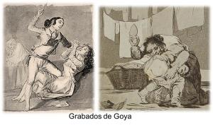 "Grabados de Goya sobre la violencia ""doméstica"""