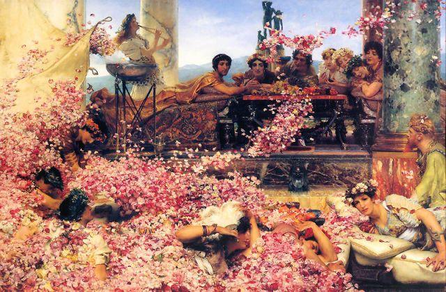 Las rosas de Heliogábalo. Lawrence Alma-Tadema