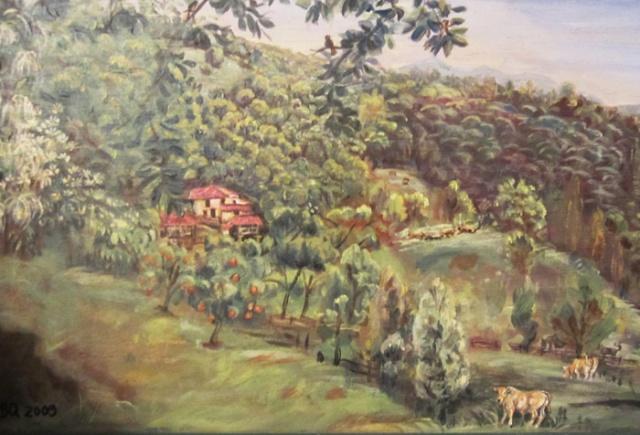 Acuarela de Carmen Fernández Bernaldo de Quirós